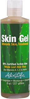 Aloe Life - Skin Gel and Herbs, 99 % Certified Organic, Whole Leaf Aloe Vera Plus Vitamin A, C, E and Herbs, Whole Leaf Al...