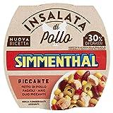 simmenthal piccante insalata di petto di pollo con fagiolini cannellini, mais e fagioli rossi, 1 lattina da 160 gr