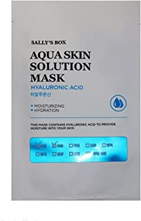 Sally's Box Aqua Skin Solution Mask - Hyaluronic Acid - Moisturizing & Hydration - 10 Masks in Total