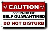 Covid-19 Coronavirus self Quarantine Do Not Disturb No Soliciting Door Sticker Vinyl Decal Sign Peel and Stick Indoor and Outdoor 3M Vinyl