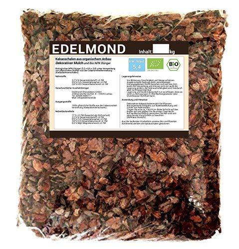 Bio Kakaoschalen Dekor, Mulch und Dünger für Topfpflanzen. Natürliche Optik ohne Pestizide. Düngt Vegan ohne Exkremente. Für Innen und draußen. Lose fallend, Keine Pressware (1,6 kg)