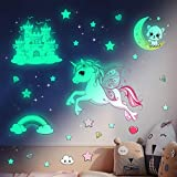 Glow in The Dark Stars Stickers for Ceiling,Unicorn Room Wall Decor for Girls Bedroom Decor,Kids...