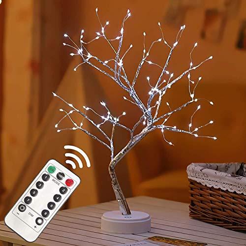 Remote Fairy Tree Light Lamp 108 Led - Fairy Light Spirit Tree Celtic Serenity Fairy Light Sparkly Tree Lamp Battery/USB Operated, for Bedroom Desktop Christmas Party Decor Lights