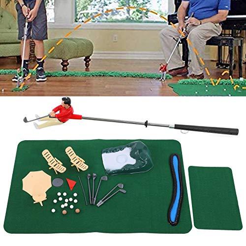 Annjom Minigolfspielset, Kindergolfspielzeug Minigolfset mit angebrachter Putterhalterung Minigolf für zum Spielen mit Kind