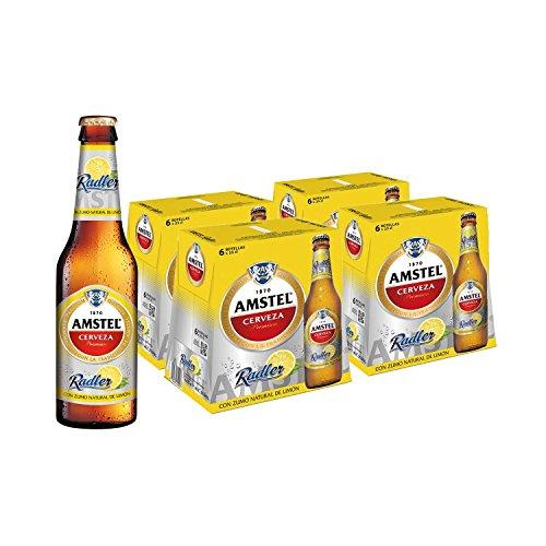 Amstel Radler Limon Beer - 4 Packs of 6 Bottles x 250 ml - Total: 6 l