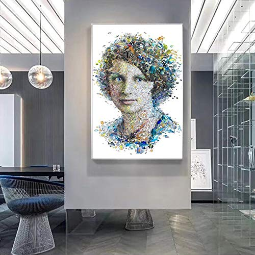 Geiqianjiumai Modern creatief wereldberoemd vrouwelijk portretposter en frameloos schilderij van de drukwandzeildoek, decoratief schilderij voor woonkamer
