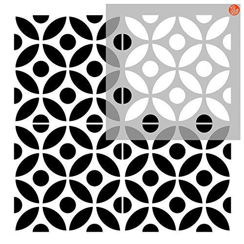 Pack of Two - Tile Stencils - Dizzy Duck Designs - Tsunagi Spot - Custom Sizing Available - 12' (305mm) Multi Tile pk