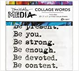Ranger Dina Wakley Media Collage Words Pack, Papier, Mehrfarbig, 11.9 x 8.7 x 0.1 cm