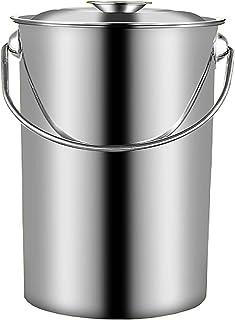 Seau À Soupe, Godet De Stockage Accroissé En Acier Inoxydable, Seau Portable Ménager/Commercial, Pour Stocker Le Réservoir...