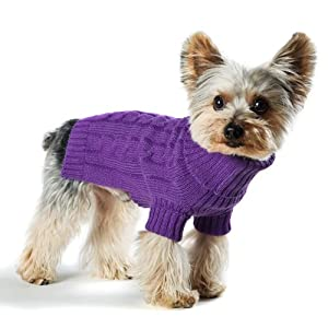 Stinky G Dog Sweater Turtleneck Purple Size #10