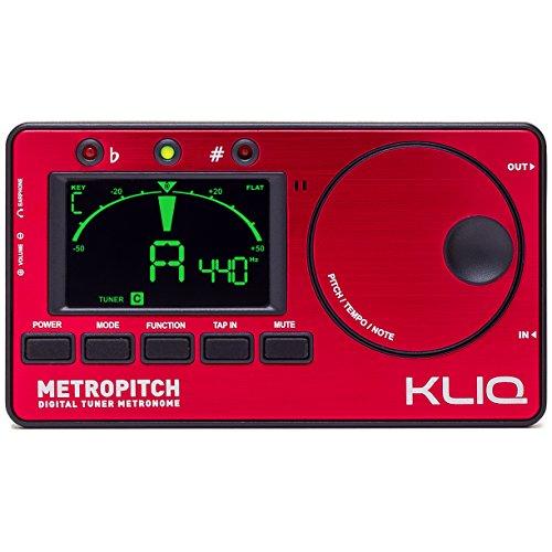 Kliq metropitch–Metrónomo Tuner–con Guitarra, Bajo, Violín, Ukelele, cromática y modos–Tap Tempo–Generador de...