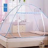 Adarl Indoor Portable Folding Bedroom Sleeping Mosquito Net Tent Canopy Attached Bottom with Double Zipper Door (47x75x59 inch)