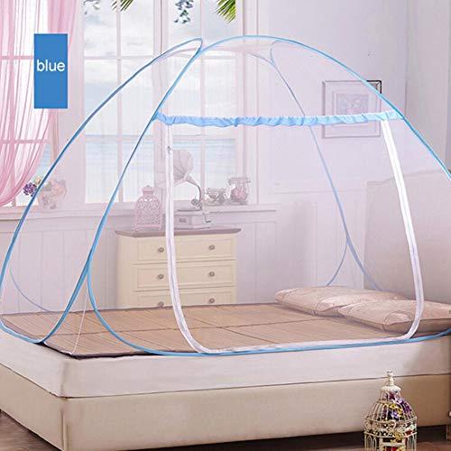 Adarl Indoor Portable Folding Bedroom Sleeping Mosquito Net Tent Canopy Attached Bottom with Double Zipper Door (59x79x59 inch)