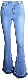 KAKACITY 女性のハイウエストストレッチデニムジーンズママプラスサイズのワイド脚スキニージーンズボーイフレンドジーンズ (色 : ライトブルー, サイズ : S)