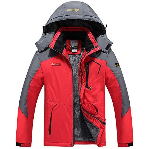 Chaqueta acolchada de forro polar para hombre al aire libre a prueba de frío abrigo-1 masculino rojo_XL