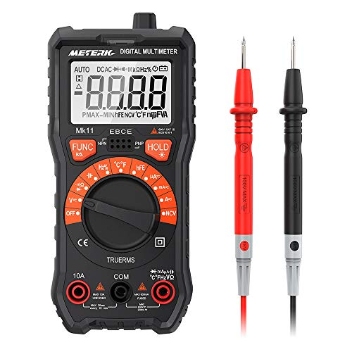 Multimeter Meterk 2000 Counts Multimeter digital Multi Tester AC/DC Widerstand Kapazität NCV-Test Frequenztest Temperaturmessung Durchgangsprüfung