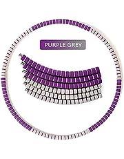 BBGSFDC Anillo de Aptitud de Gorssen, Anillo Deportivo, aro de Espuma de Seis Secciones Desmontable, Anillo de Fitness de Espuma ponderada Adultos, Fitness de Danza (Color : Purple)