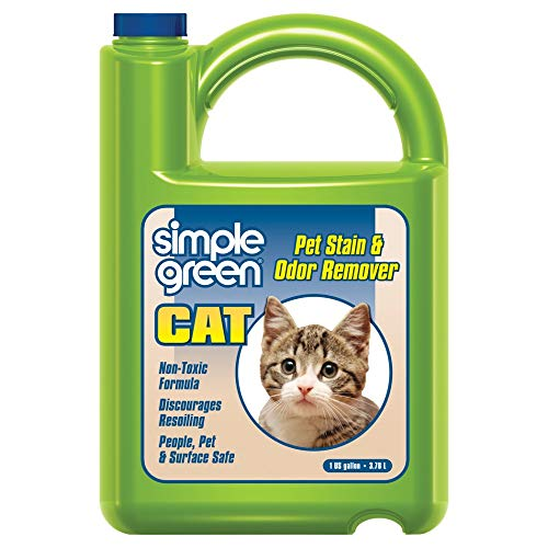 Cat Stain & Odor Remover - Enzyme Cleaner for Cat Urine, Feces, Blood, Vomit (1 gallon Refill)