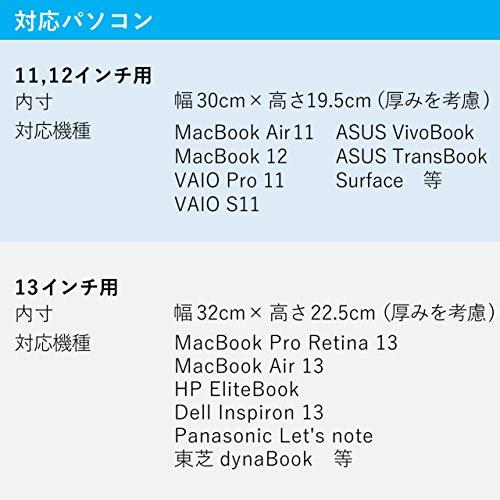 TEESFACTORYパソコンケース「match」マッチ13インチ用ネイビー紺