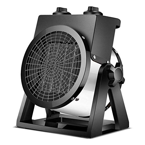 lizubing Electric PTC Heaters, 2KW Portable Outdoor Fan Heater, Energy-Saving 2 Speed ??Plant Electric Space Heater, for Garage Workshop Greenhouse Shed Caravan (Color : Gray)