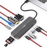 TSUPY Hub USB C, 11-in-1 Multiporta Adattatore Tipo C con HDMI 4K, VGA 1080P, 3 USB(A), Dati USB C, Ricarica USB C 100W, Lettore SD/Micro SD, Ethernet 1Gbps, Jack Audio per MacBook PRO, dell,e Altro