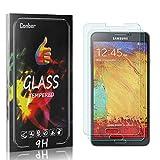 Conber [2 Stück] Displayschutzfolie kompatibel mit Samsung Galaxy Note 3, Panzerglas Schutzfolie für Samsung Galaxy Note 3 [Hüllenfreundlich][9H Härte]