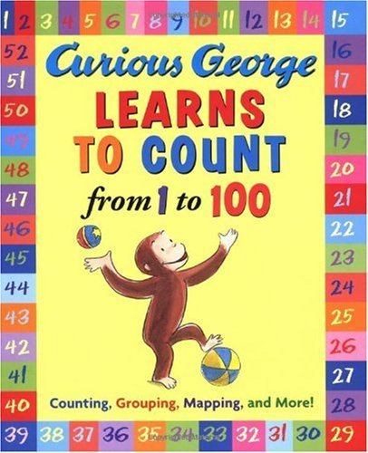 Curious George Learns to Count from 1 to 100 (English Edition)