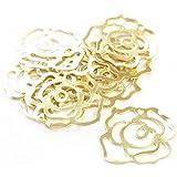 薔薇の透かしチャーム ローズ ・ゴールド10個入り UVレジン、小物系に