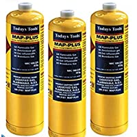 3x MAPP Map Plus 435g Bottle Disposable Gas Cylinder plumbers torch jet burner