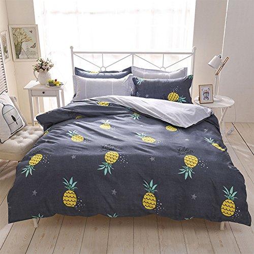 Stillshine Parure de lit Modèle de Ananas Polyester-Coton Housse de Couette Simple Double King Size