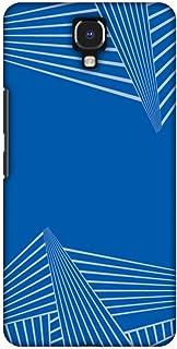 AMZER Slim Designer Snap On Hard Case Back Cover for Infinix Note 4 - Carbon Fibre Redux Coral Blue 3