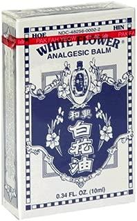 White Flower Analgesic Balm, 0.34-Ounce Bottles (Pack of 4)