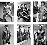 DIEUX DU STADE Set of 6 Sexy Hunks Refrigerator Magnets Fridge Magnets - French Rugby Team 002