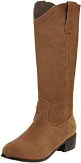 AbbyAnne Women Classic Mid Boots Pull On
