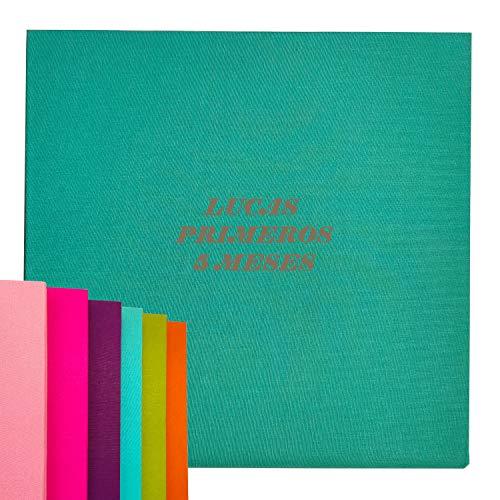 Desconocido Álbumes de Fotos 30 páginas con Portadas en Lino. Álbum analógico 25X25 cm (Pistacho)
