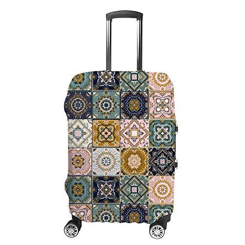 Ruchen - Funda para Maleta con diseño de Talavera y Azulejos turcos, diseño de Mosaico étnico
