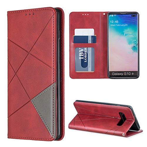 ToneSun - Funda de Piel para Smartphone Samsung Galaxy con Costuras prismáticas