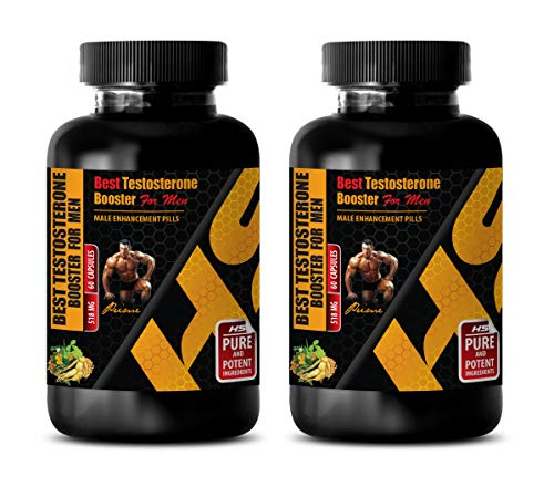 Aphrodisiac Pills for Men - Best Testosterone Booster for Men - Male Enhancement Pills - Fenugreek Male libido - 2 Bottles 120 Capsules