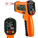 ZOTO Infrared Thermometer, Non Contact Digital Laser Temperature Gun Instant Read -58 ?to 1472?with Color LED Display and K-Type Thermocouple for Kitchen Cooking BBQ Automotive and Industrial