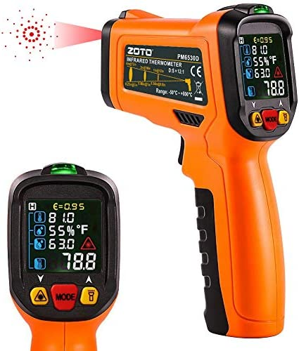 ZOTO Infrared Thermometer Non Contact Digital Laser Temperature Gun Instant Read 58 to 1472 product image