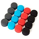 UUShop 4 Colors Silicone Thumb Stick Caps Grip Gamepad Analog Joystick for Nintendo Switch NS Controller Joy-Con (16 Pieces)
