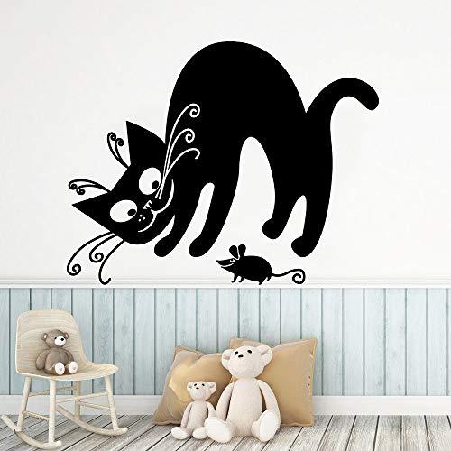 Prachtige Kat muur Art Decal Decoratie Mode Sticker Stickers Slaapkamer Kwekerij Decoratie M 28cm X 35cm Goud