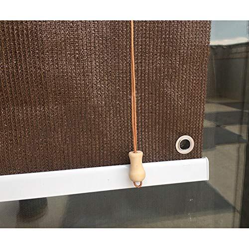 YUDEYU Schlagfrei Sonnenschutz Heben Sie Das Rollo Manuell An Weißer Stab Glasfenster Kühlisolierung Regenfest/Wasserdicht (Color : Brown, Size : 1.5x1.8m)
