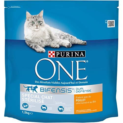 Purina One - Chat - Spécial Chat Stérilisé - Poulet et Blé - 1,5kg - Lot de 6
