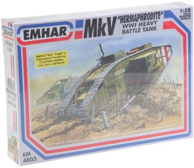 artículos de promoción Emhar Models Mk.V Hermaphrodite WWI Heavy Battle Tank Vehicle Vehicle Vehicle Model Building Kit by Emhar Models  precio al por mayor