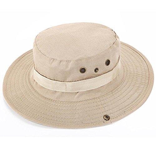 Bluelover Aotu Camouflage Casquette Chapeau Chapeau De Pêche Randonnée Camping Escalade Casquette Bonnie Hat - Blanc
