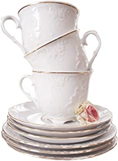 Cmielow PLC3.3-X, 3.3-Ounce Platinum Band Espresso Cup with 5