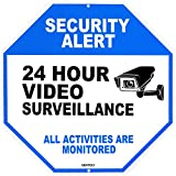 Video Surveillance Sign - Home Security Sign - Security Camera Sign - All Activities are Monitored - Rust Free 12' x 12' Aluminum Sign, by Gentoly