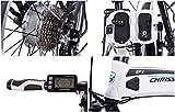 CHRISSON 20 Zoll E-Bike Klapprad EF2 Weiss matt - E-Faltrad mit Bafang Nabenmotor 250W, 36V, 30 Nm, Pedelec Faltrad für Damen und Herren, praktisches Elektro Klapprad - 6