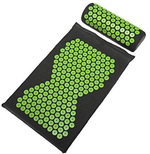Nuevo Diseño Yoga Mat y acupresión Almohada Juego de Cama de Pilates Mat Cojín masajeador Muscular y técnicas de relajación Volver Masaje del Cuello del cojín
